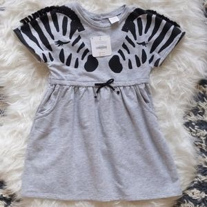 New 4T Gymboree Gray Pocketed Dress with Zebras!